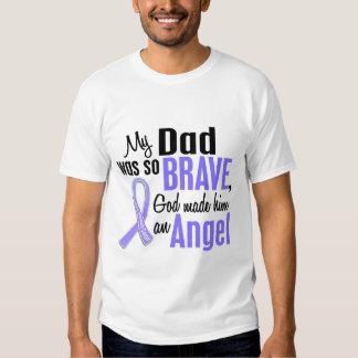 Angel 1 Dad Stomach Cancer Tee Shirt