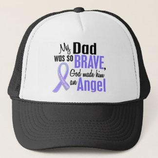 Angel 1 Dad Stomach Cancer Trucker Hat