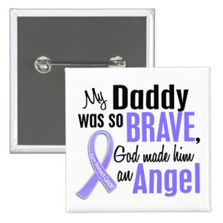 Angel 1 Daddy Stomach Cancer 2 Inch Square Button
