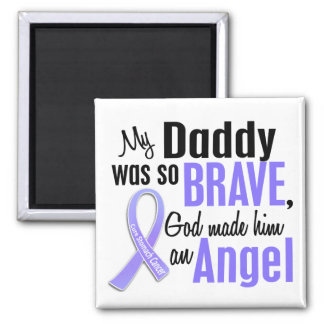 Angel 1 Daddy Stomach Cancer 2 Inch Square Magnet