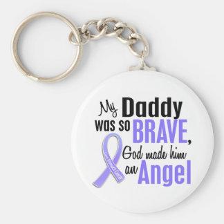 Angel 1 Daddy Stomach Cancer Basic Round Button Keychain