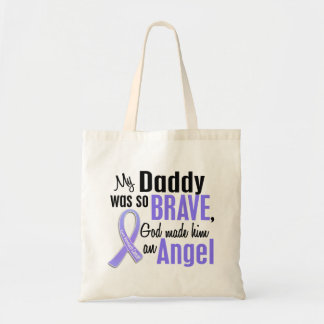 Angel 1 Daddy Stomach Cancer Budget Tote Bag