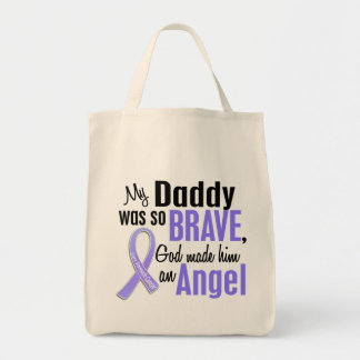 Angel 1 Daddy Stomach Cancer Grocery Tote Bag