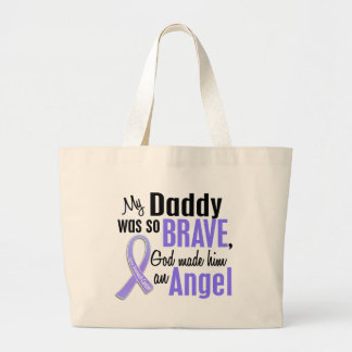 Angel 1 Daddy Stomach Cancer Jumbo Tote Bag
