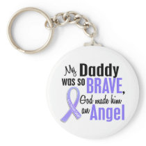 Angel 1 Daddy Stomach Cancer Keychain