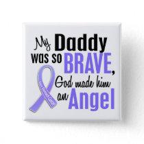 Angel 1 Daddy Stomach Cancer Pinback Button