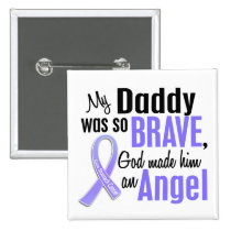 Angel 1 Daddy Stomach Cancer Pinback Button