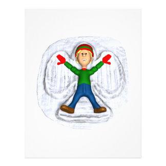 Ángel 1 de la nieve flyer a todo color