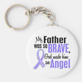 Angel 1 Father Esophageal Cancer Basic Round Button Keychain