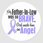 Angel 1 Father-In-Law Esophageal Cancer Round Sticker