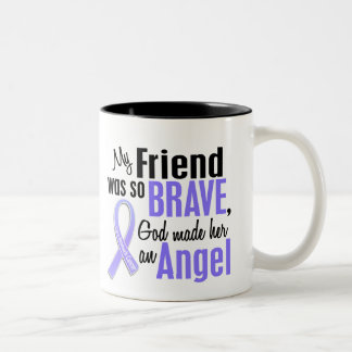 Angel 1 Friend (Female) Stomach Cancer Two-Tone Coffee Mug