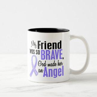 Angel 1 Friend (Female) Stomach Cancer Two-Tone Coffee Mug