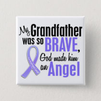Angel 1 Grandfather Esophageal Cancer Pinback Button
