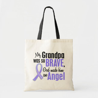 Angel 1 Grandpa Esophageal Cancer Budget Tote Bag