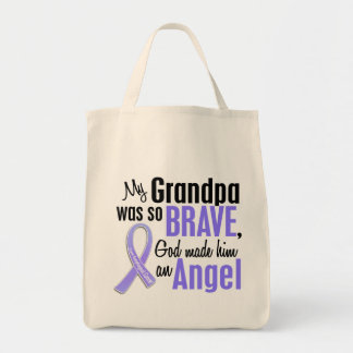 Angel 1 Grandpa Esophageal Cancer Grocery Tote Bag
