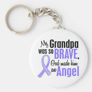 Angel 1 Grandpa Esophageal Cancer Keychain
