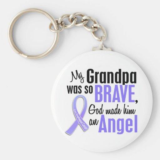 Angel 1 Grandpa Esophageal Cancer Keychain