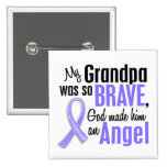Angel 1 Grandpa Esophageal Cancer Pinback Buttons