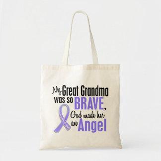 Angel 1 Great Grandma Stomach Cancer Budget Tote Bag
