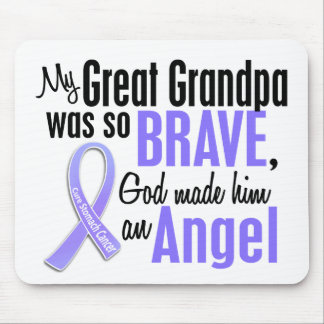 Angel 1 Great Grandpa Stomach Cancer Mouse Pad