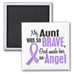 Angel 1 Hodgkins Lymphoma Aunt 2 Inch Square Magnet
