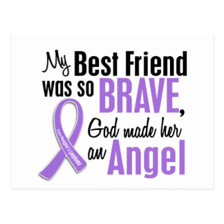 Angel 1 Hodgkins Lymphoma Best Friend (Female) Postcard