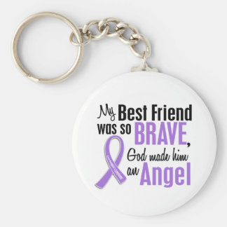 Angel 1 Hodgkins Lymphoma Best Friend (Male) Keychain