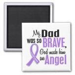 Angel 1 Hodgkins Lymphoma Dad 2 Inch Square Magnet