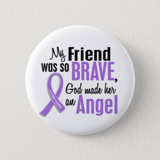 Angel 1 Hodgkins Lymphoma Friend (Female) Button