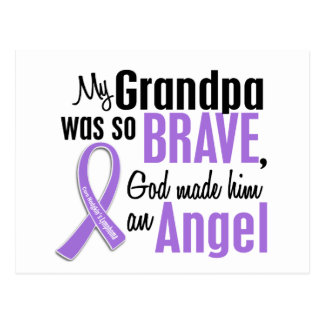Angel 1 Hodgkins Lymphoma Grandpa Postcard