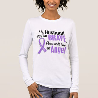 Angel 1 Hodgkins Lymphoma Husband Long Sleeve T-Shirt