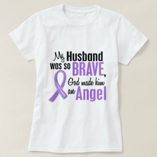 Angel 1 Hodgkins Lymphoma Husband T-Shirt