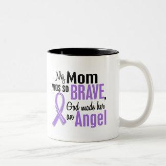 Angel 1 Hodgkins Lymphoma Mom Two-Tone Coffee Mug
