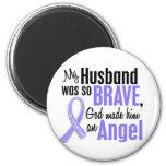Angel 1 Husband Esophageal Cancer 2 Inch Round Magnet