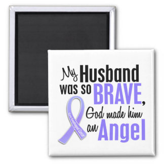 Angel 1 Husband Esophageal Cancer 2 Inch Square Magnet