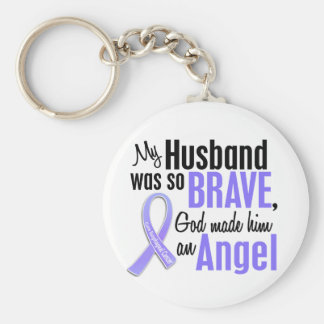 Angel 1 Husband Esophageal Cancer Basic Round Button Keychain