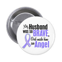 Angel 1 Husband Esophageal Cancer Pinback Button