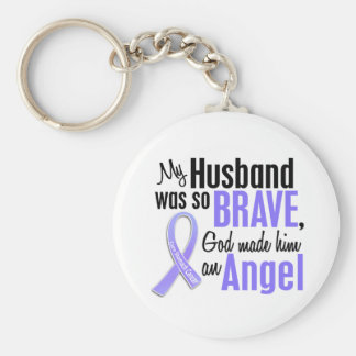 Angel 1 Husband Stomach Cancer Key Chains
