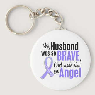 Angel 1 Husband Stomach Cancer Keychain