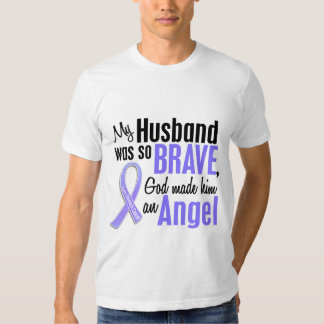 Angel 1 Husband Stomach Cancer T Shirt