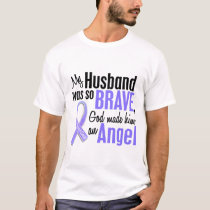 Angel 1 Husband Stomach Cancer T-Shirt