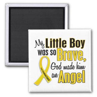 ÁNGEL 1 Little Boy del cáncer de la niñez Imán Cuadrado