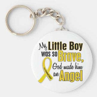 ÁNGEL 1 Little Boy del cáncer de la niñez Llavero Redondo Tipo Pin