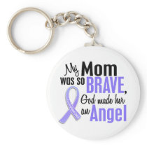 Angel 1 Mom Esophageal Cancer Keychain