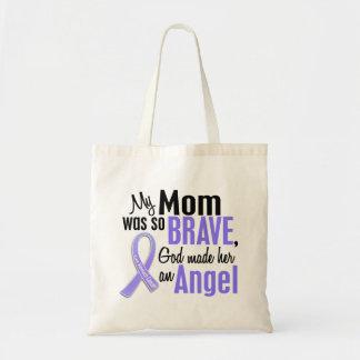 Angel 1 Mom Stomach Cancer Budget Tote Bag