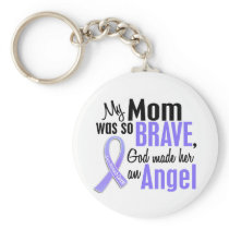Angel 1 Mom Stomach Cancer Keychain
