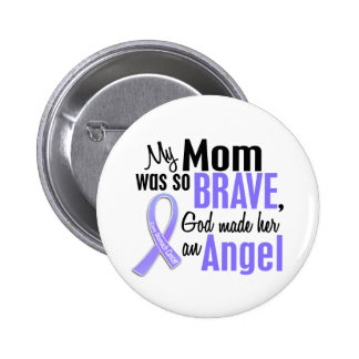 Angel 1 Mom Stomach Cancer Pinback Button