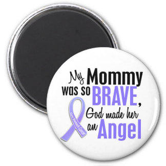 Angel 1 Mommy Stomach Cancer 2 Inch Round Magnet