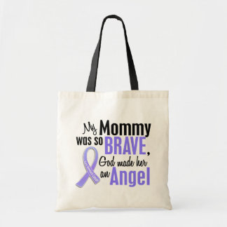 Angel 1 Mommy Stomach Cancer Budget Tote Bag