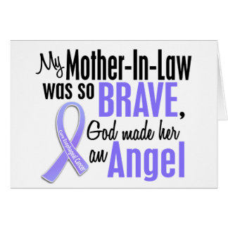 Angel 1 Mother-In-Law Esophageal Cancer Greeting Card